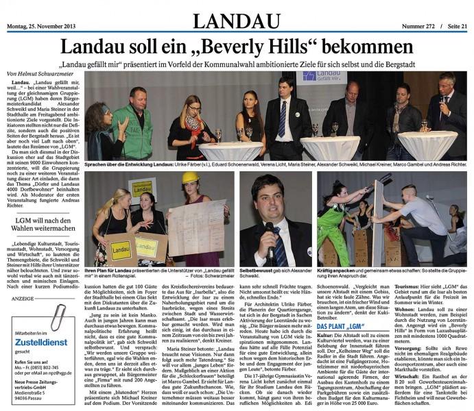 LNP Artikel Veranstaltung 22. November 2013