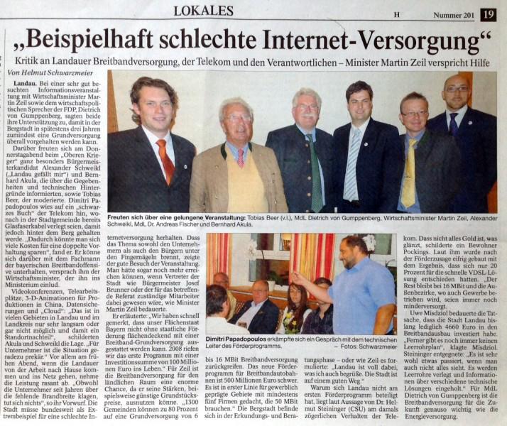 Zeitungsartikel Landau Gefällt mir Breitband Landauer Neue Presse