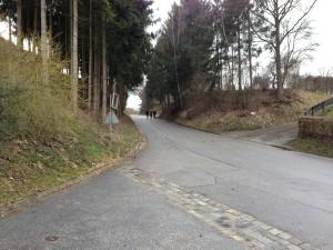 Die Zullinger behaupten - wohl zurecht - dass diese Straße für den LKW-Durchgangsverkehr ungeeignet ist. Schulweg ist es jetzt wohl nicht mehr, durch ein Rückwärts-Fahrmannöver des Schulbusses ist diese Straße kein Weg zur Bushaltestelle mehr.