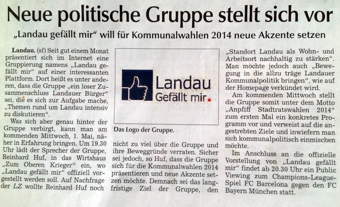 Zeitungsartikel Landauer Zeitung 2013-04-26_fr