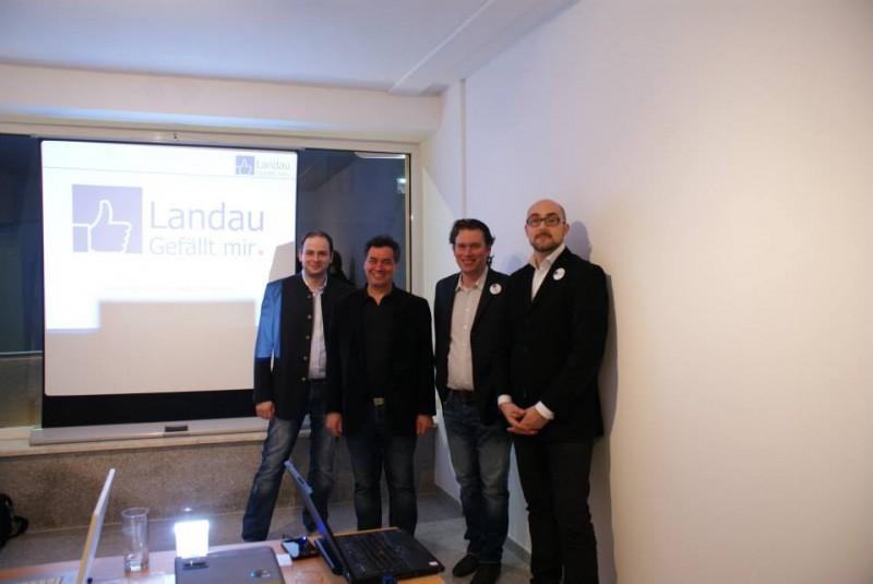 Referenten (v. l. n. r.) Philipp Thannhuber, Werner Scharinger, Tobias Beer und Bernhard Akula