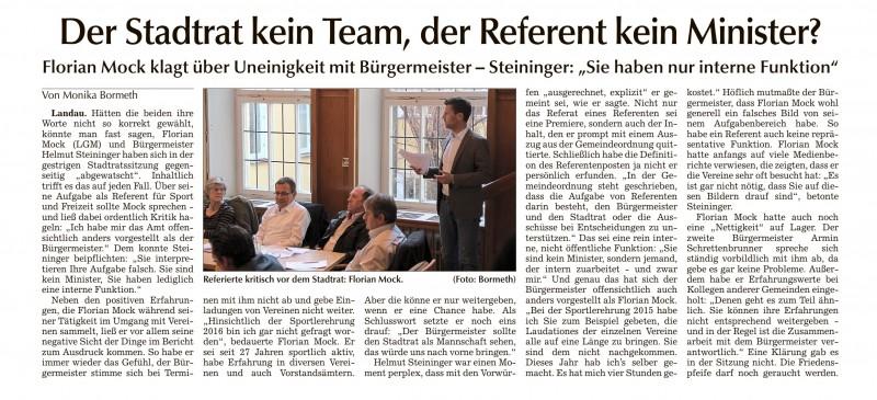 Landauer Zeitung vom 22.04.2016