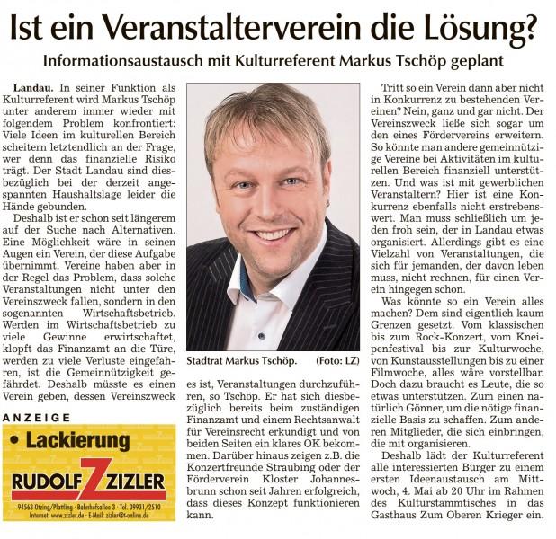 Landauer Zeitung vom Samstag, den 23.04.2016