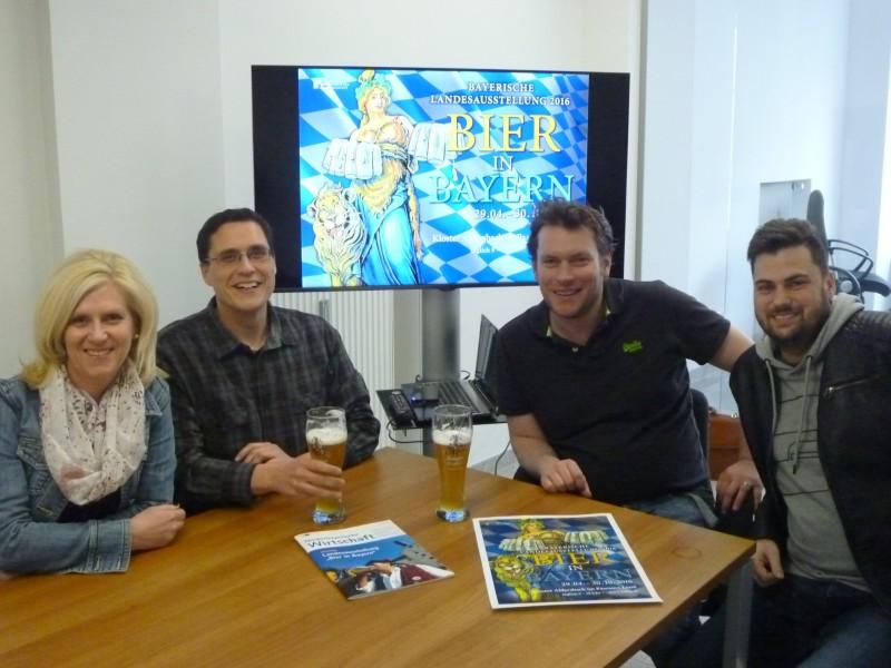 Das Organisationsteam (v. l. n r.): Claudia Bernkopf, Rainer Hochstetter, Tobias Beer und Alexander Schweikl